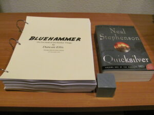 My manuscript, a cube of marble, and Neal Stephenson's much longer book