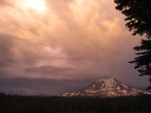 Mount Adams with a storm coming
