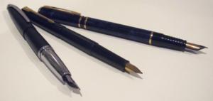 Cross, Parker, Waterman: finely balanced pens